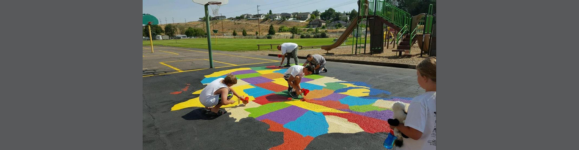 Playground map being painted